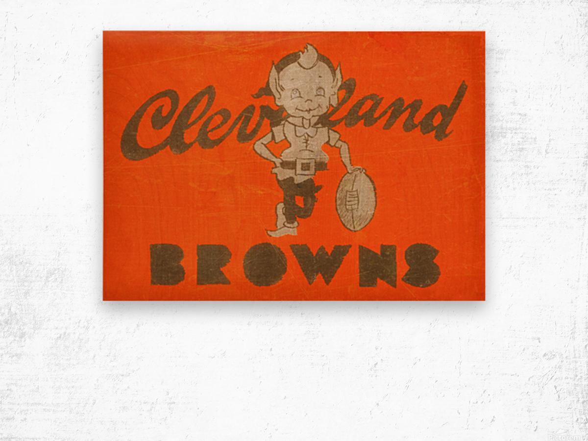 Vintage Cleveland Browns Wall Art Wood print