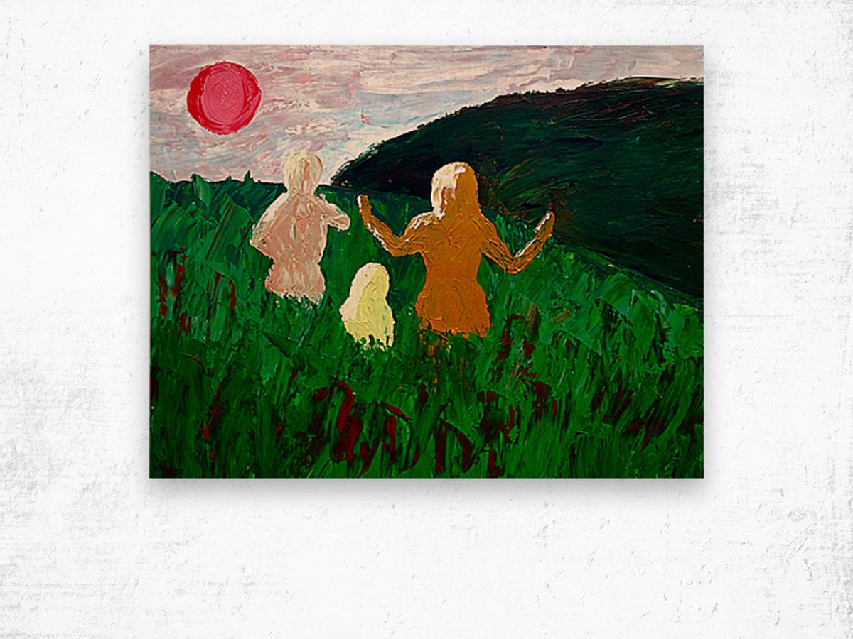 The Parent Adult Child Trilogy Wood print