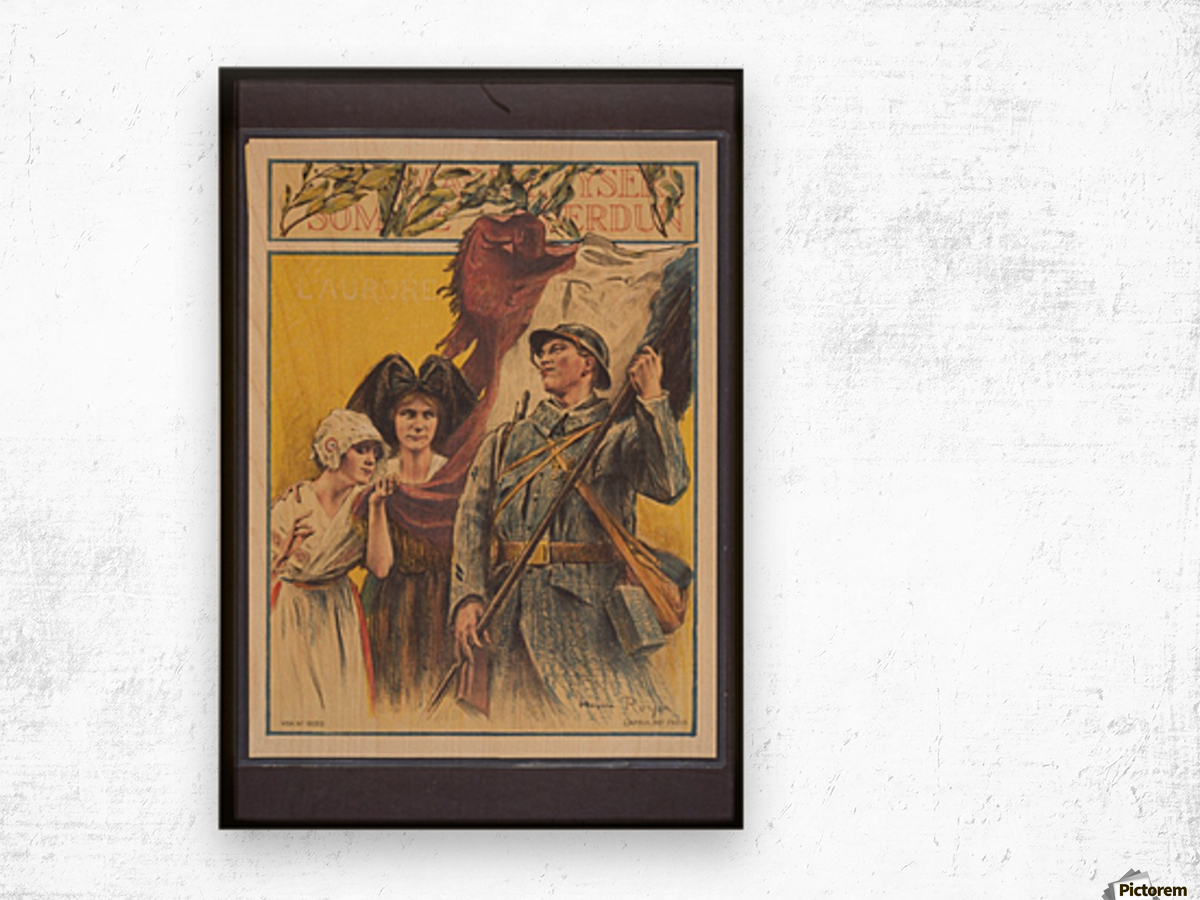 Vintage---French-Liberation Wood print