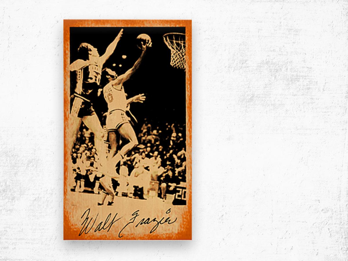 1976 New York Knicks Walt Frazier Art Wood print