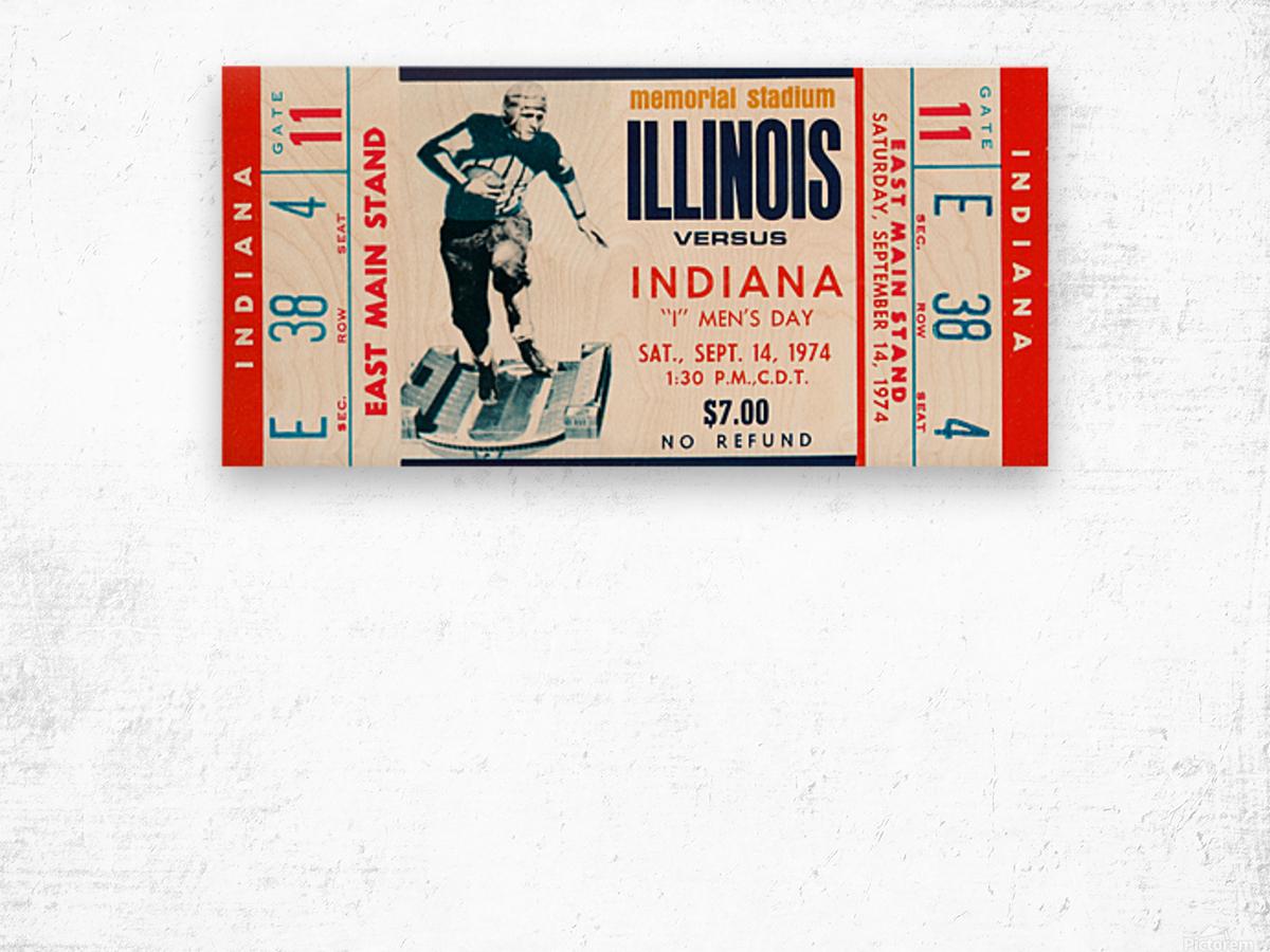 1974 Indiana Hoosiers vs. Illinois Fighting Illini Wood print