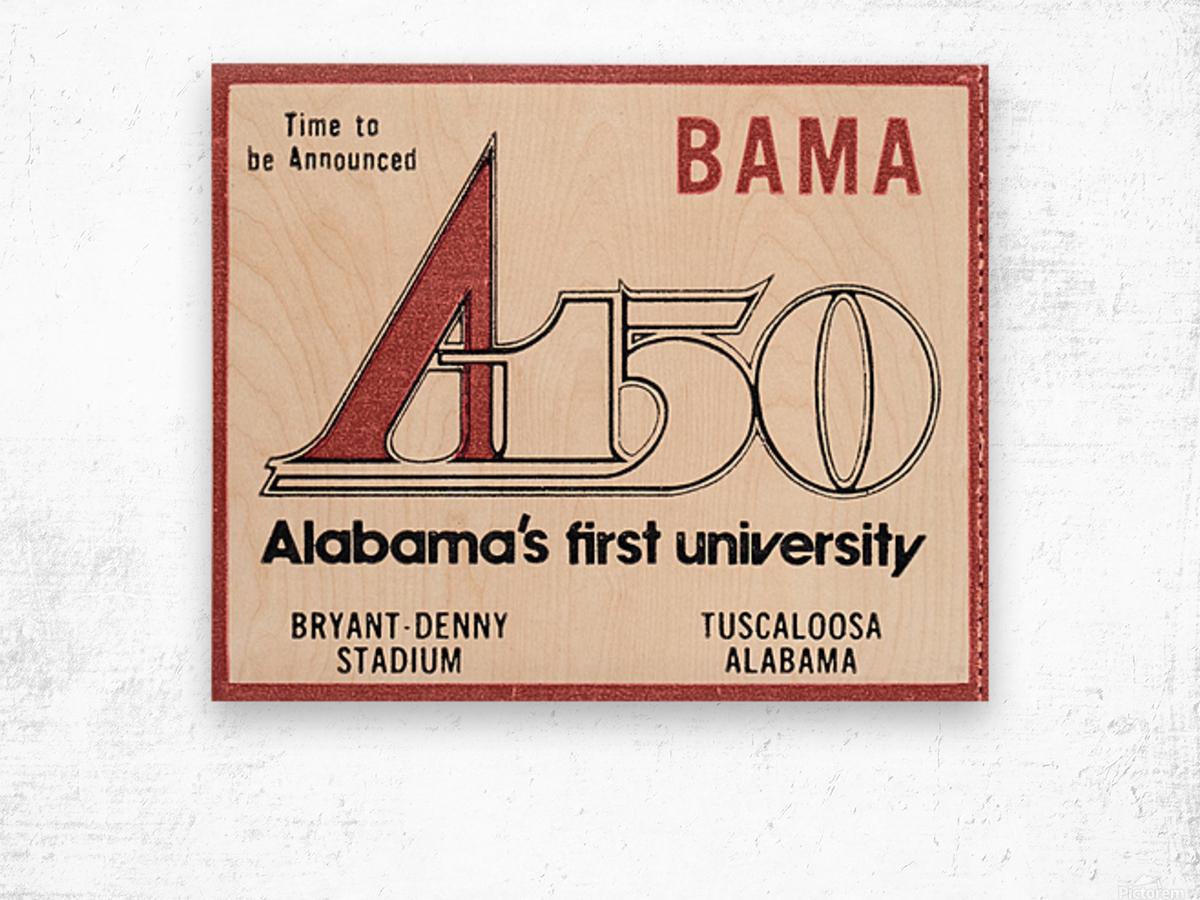 1981 Alabama Football Ticket Stub Art Wood print