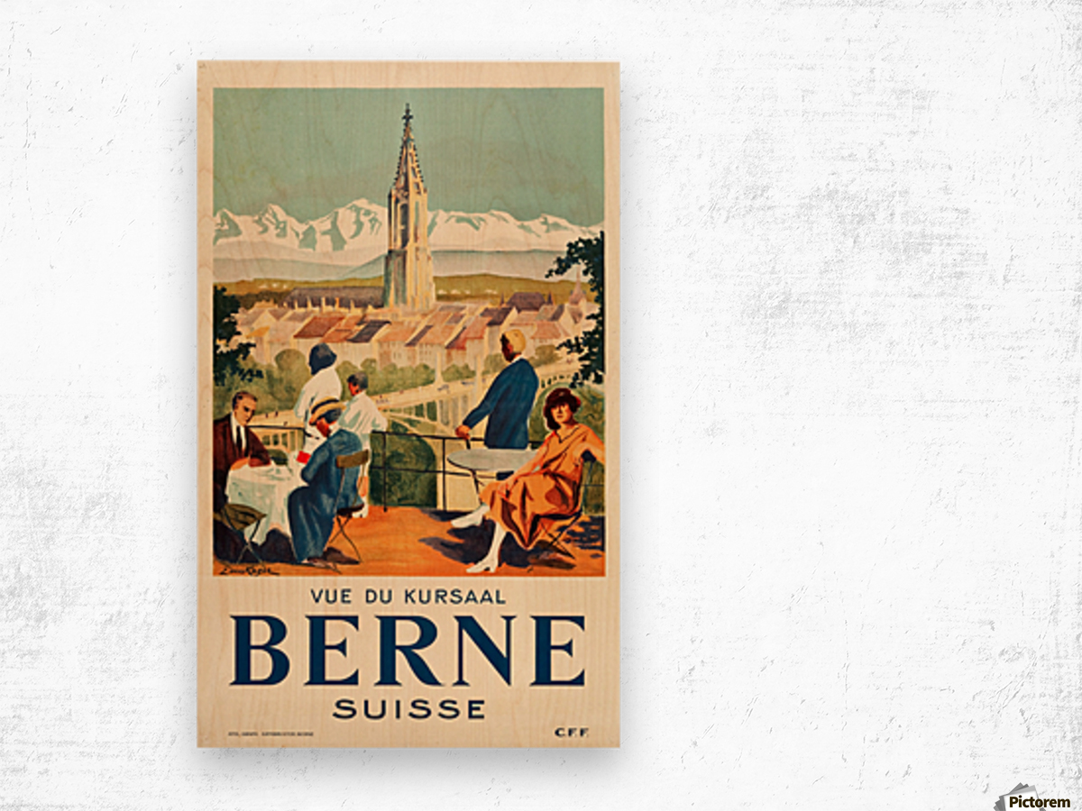 Bern, Switzerland Travel Poster Wood print