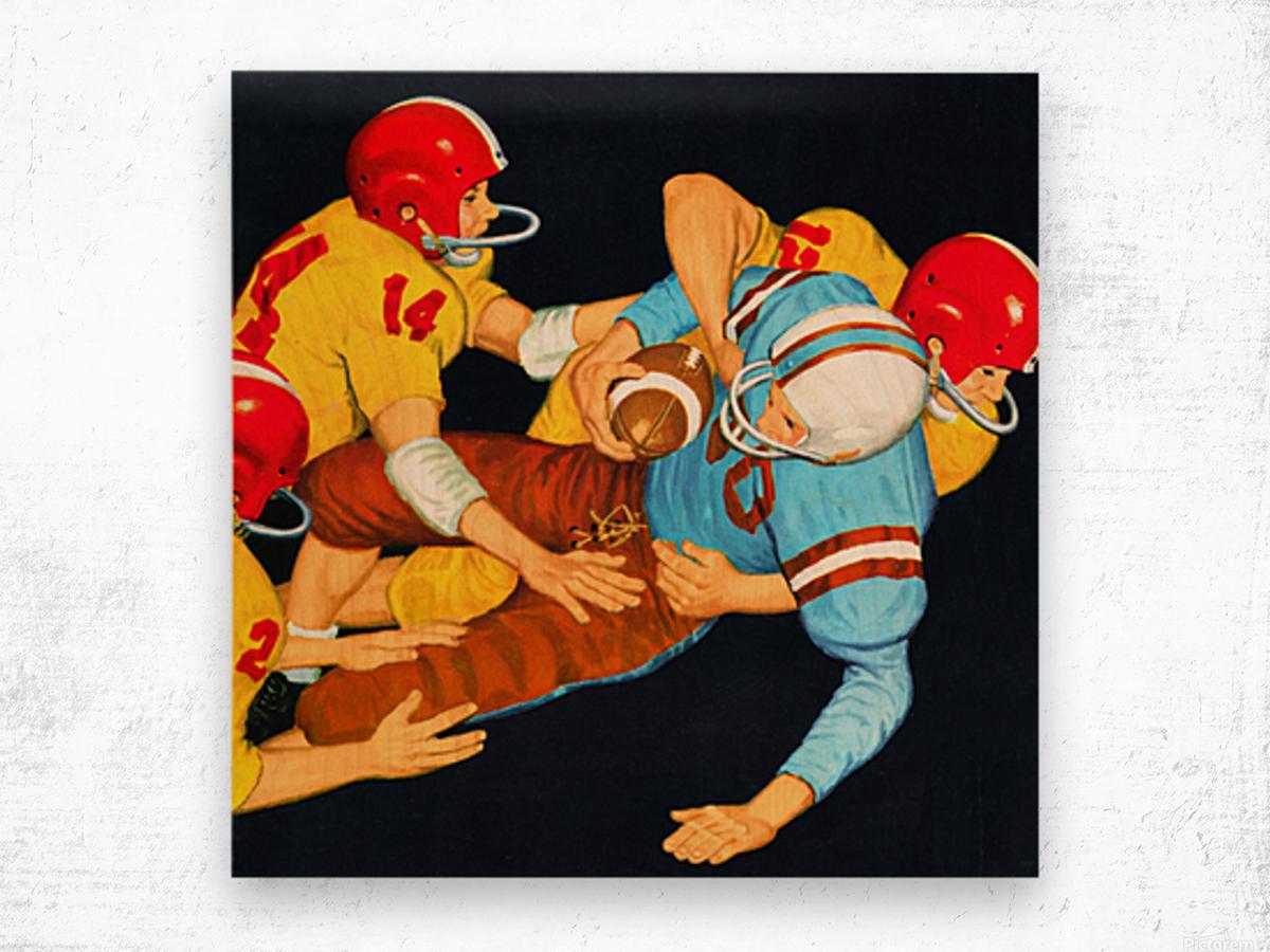 1959 Vintage Football Tackle Art  Wood print