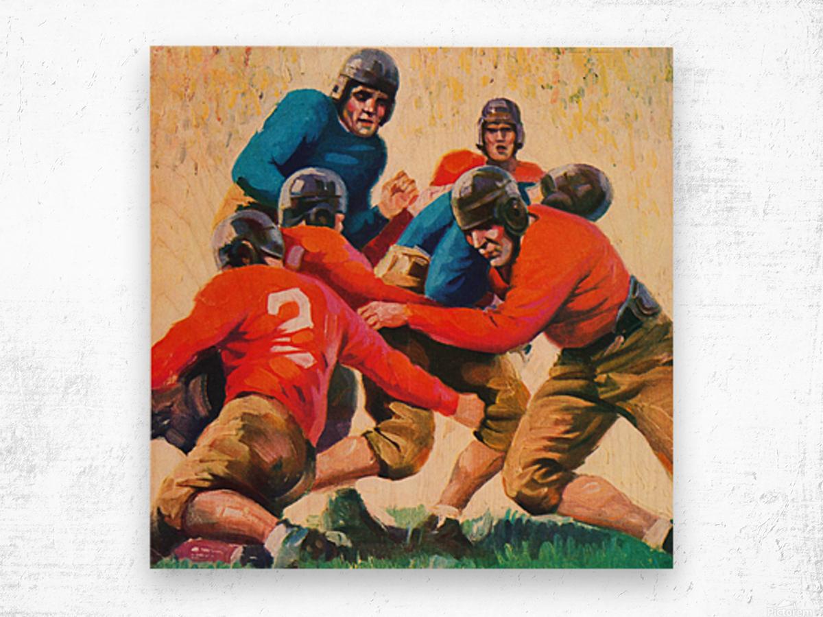 1937 Vintage Football Art Wood print