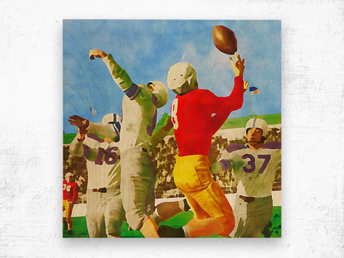 1947 Vintage Football Art Gift Idea Wood print