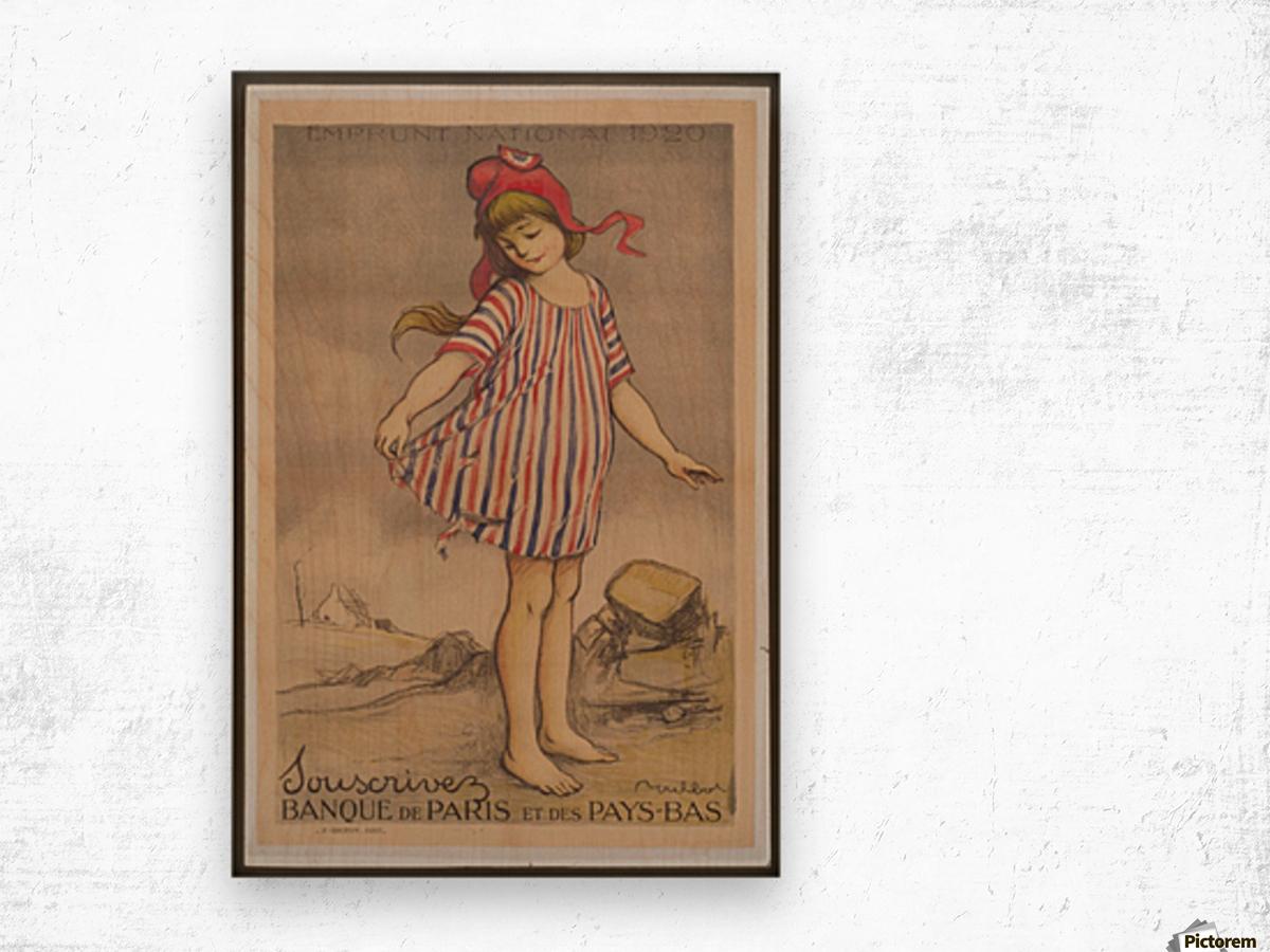 Vintage---Little-Girl Wood print