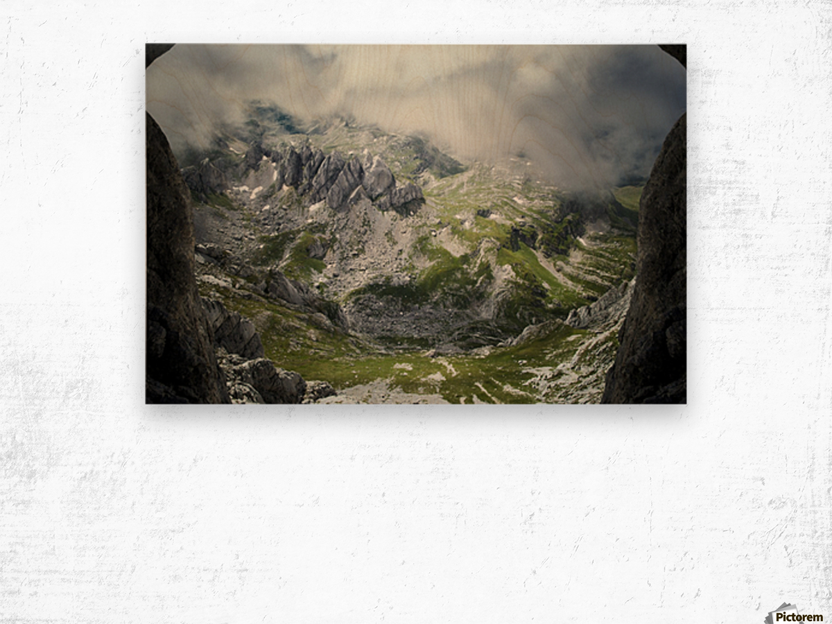 Alpine gates  Wood print