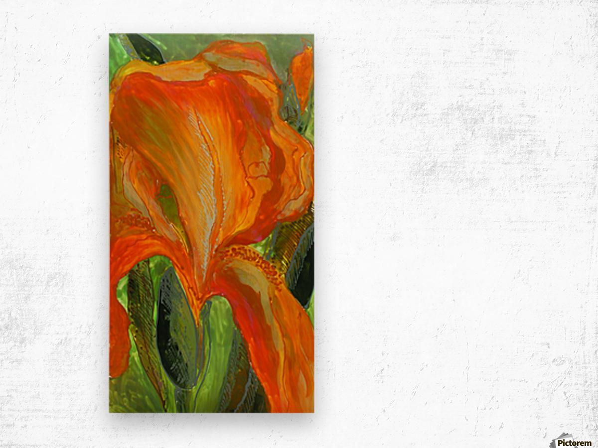 Polyptic with irises 2 by Vali Irina Ciobanu Wood print