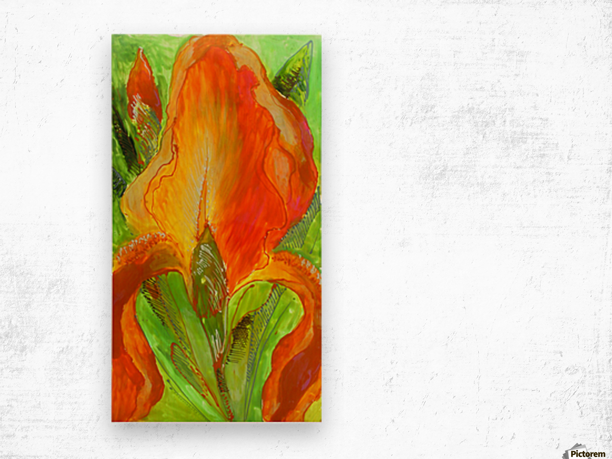 Polyptic with irises 4 by Vali Irina Ciobanu Wood print