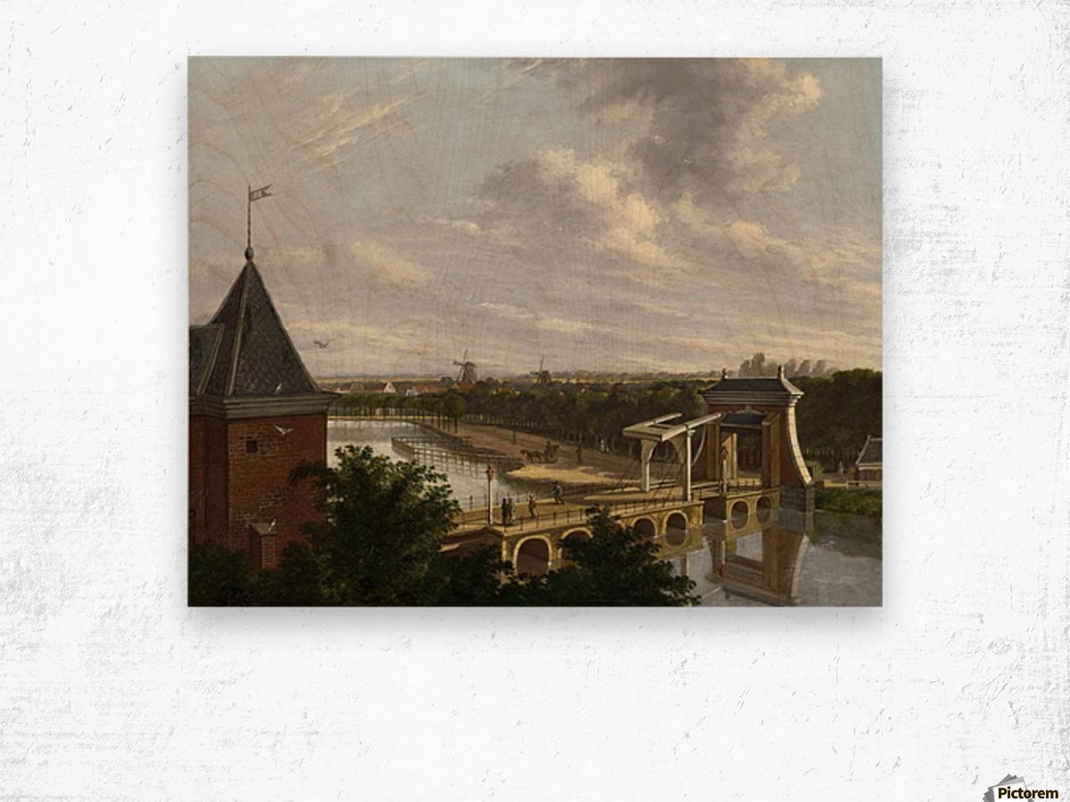 De Torensluis met de Jan Roodenpoortstoren te Amsterdam, 1829 Wood print