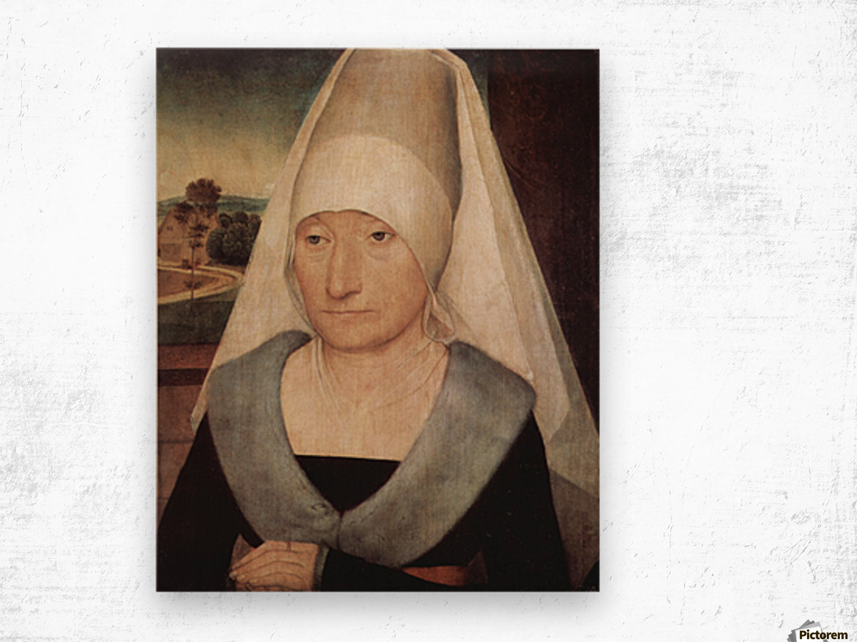 Portrait of an old woman, 1472 Wood print