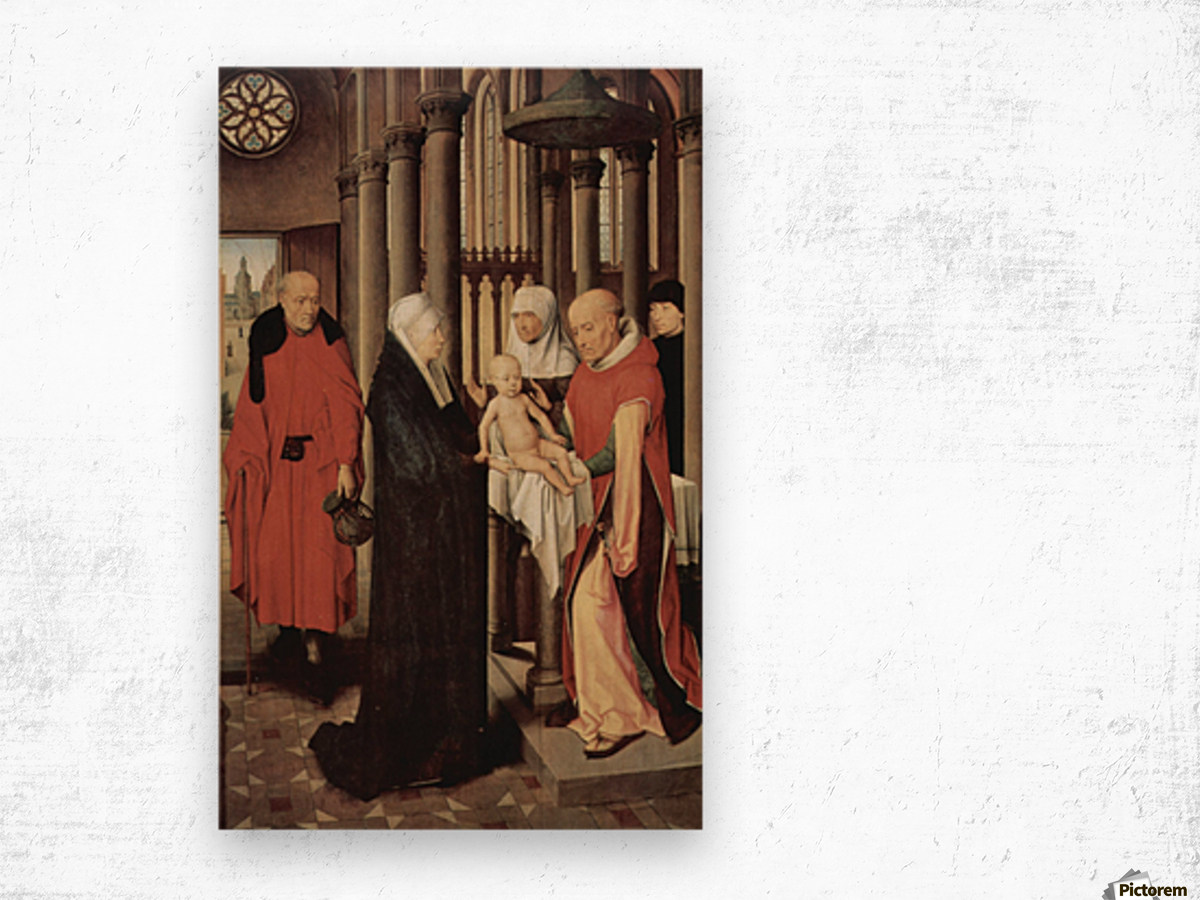 Adoration of the Magi Right wing of triptych, depicting the Presentation in the Temple Wood print