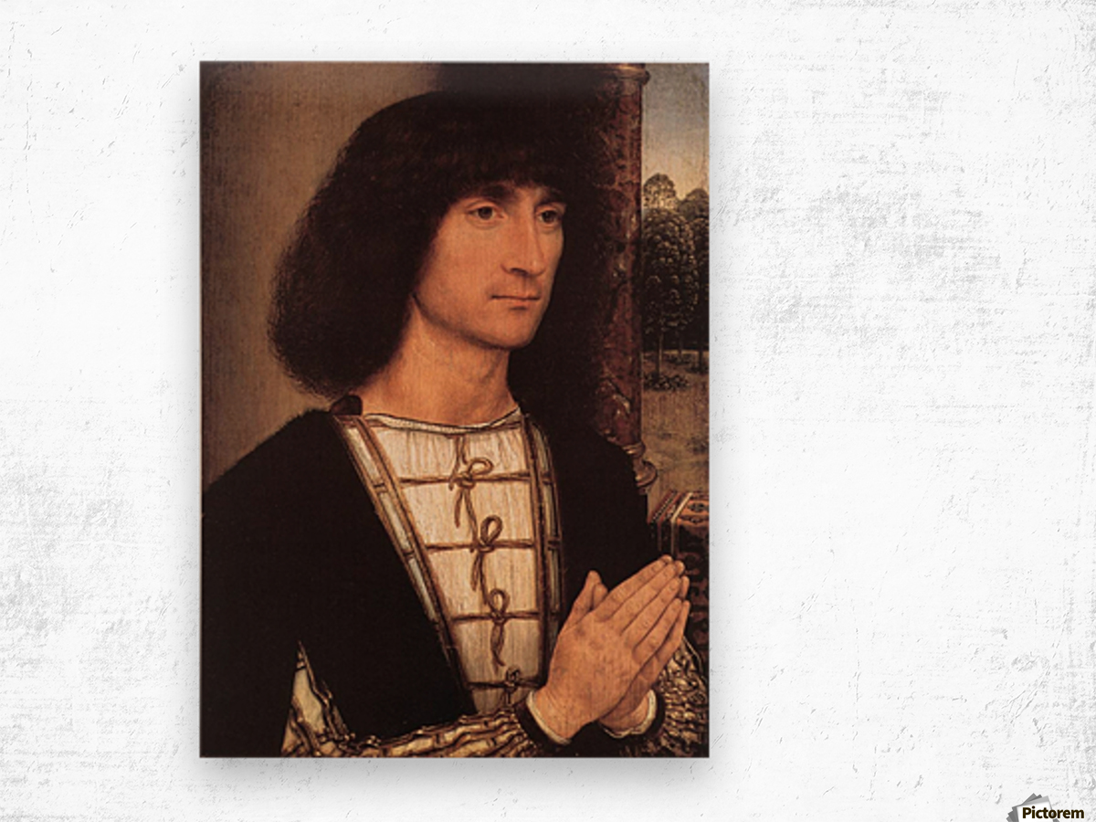 Portrait of a Young Man, 1490 Wood print