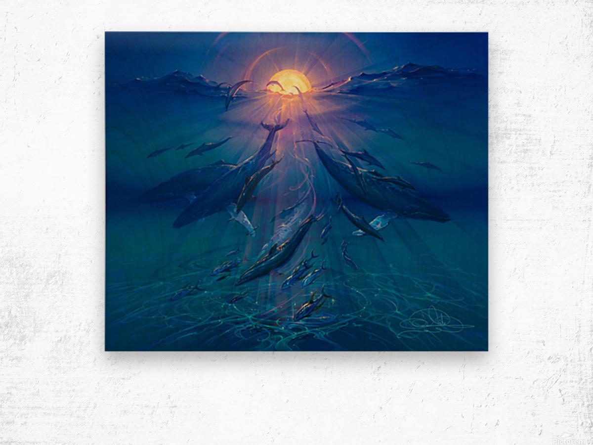 Pacific Sunrise Wood print