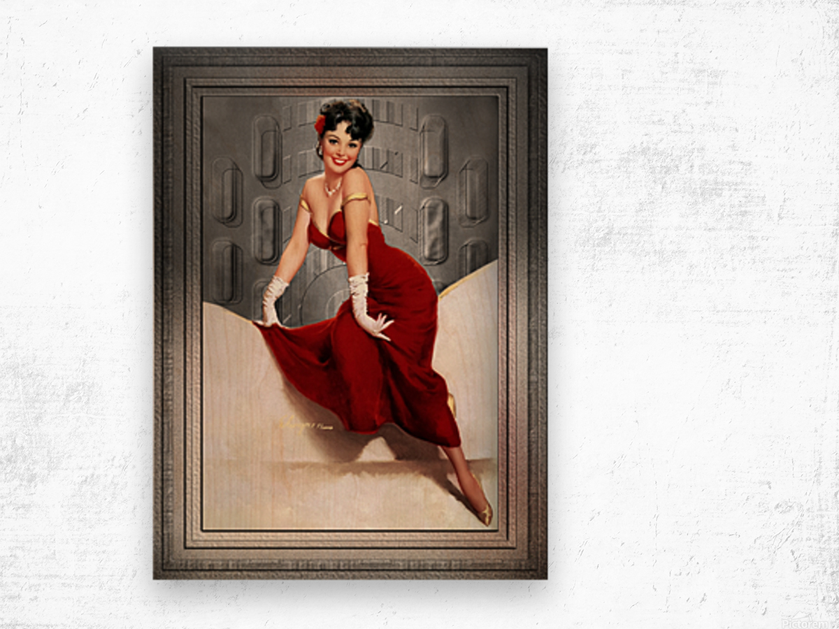 Picture Pretty by Gil Elvgren Classic Xzendor7 Old Masters Reproductions Wood print
