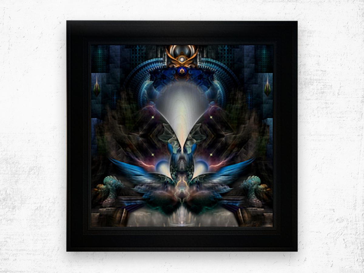 Herald The Light Fractal Wings Digital Art by Xzendor7 Wood print