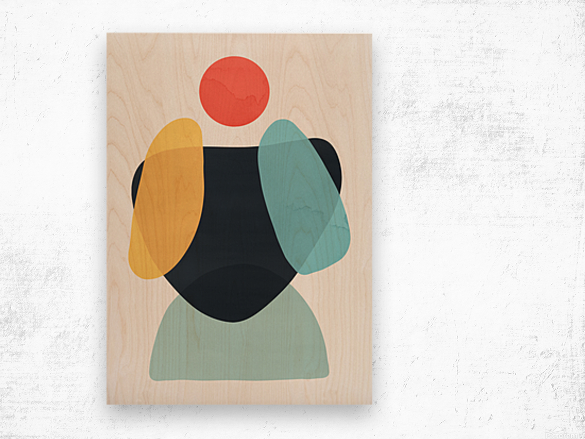 Abstraction C Wood print