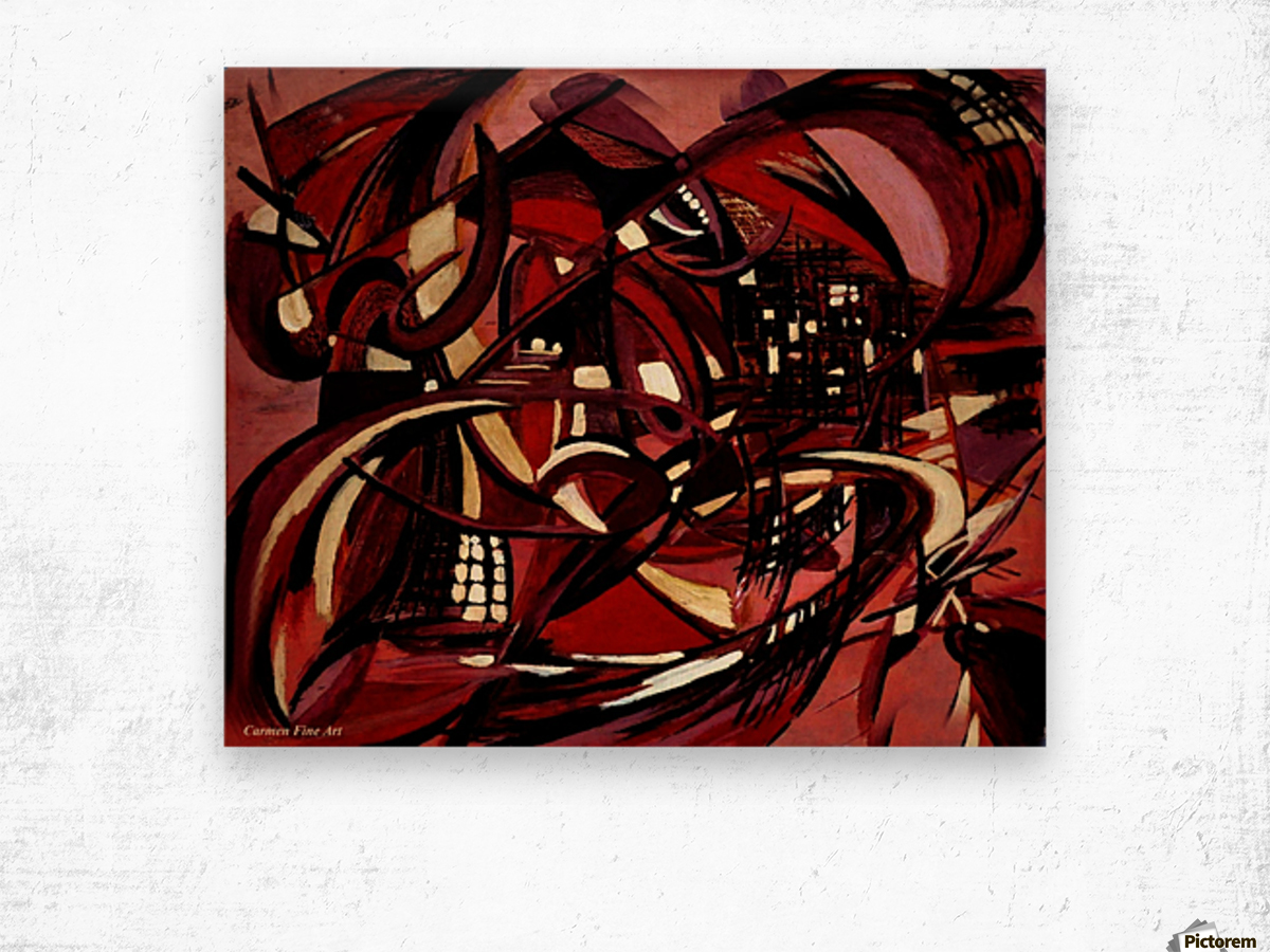 Intimate Still Life with Incidental Intensity Wood print
