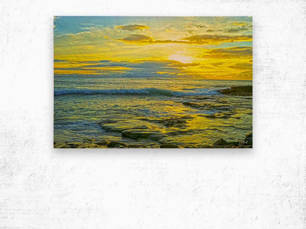 Sunset in Paradise   Hawaii Wood print