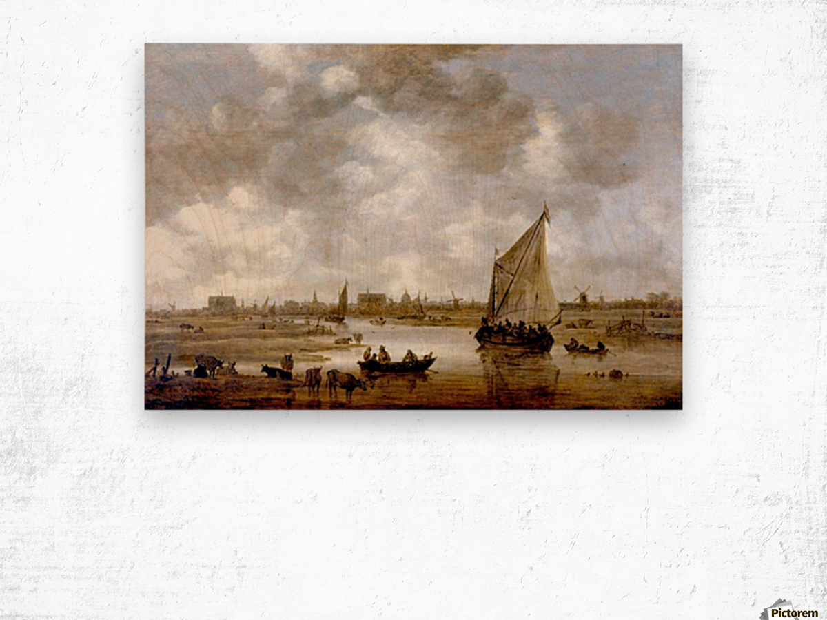 View of Leiden from the Northeast Wood print