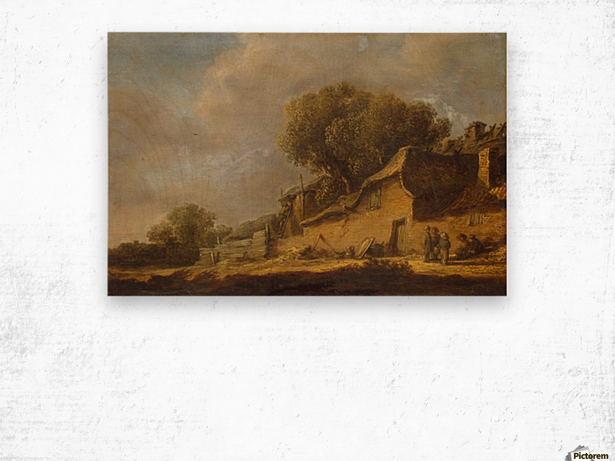 Landscape with a Peasant Cottage Wood print
