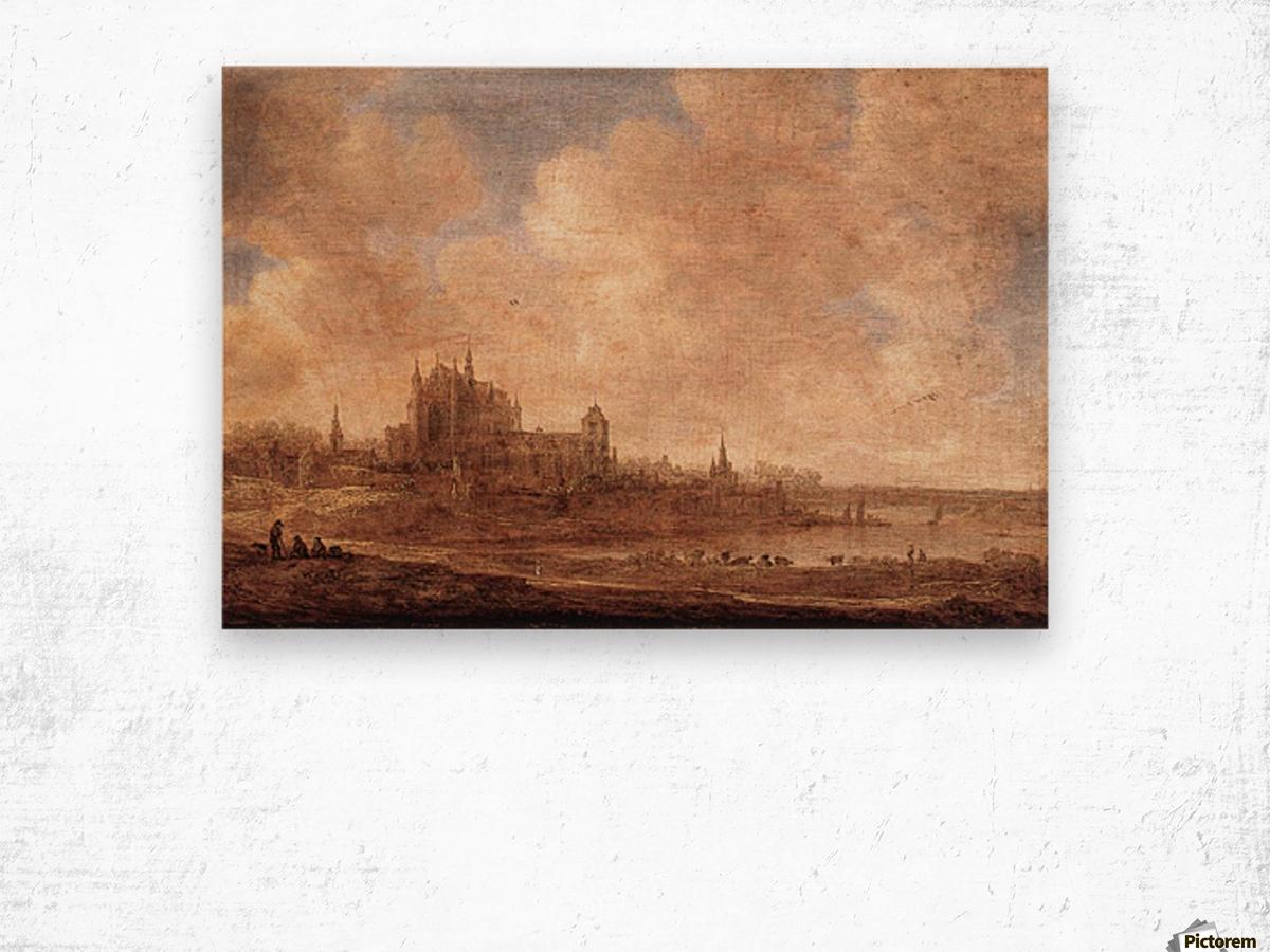 View of Leiden Wood print