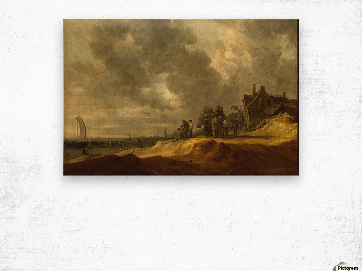 Shore at Scheveningen Wood print