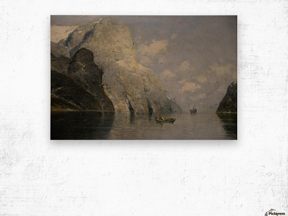 Blue Skies at Fjord Wood print