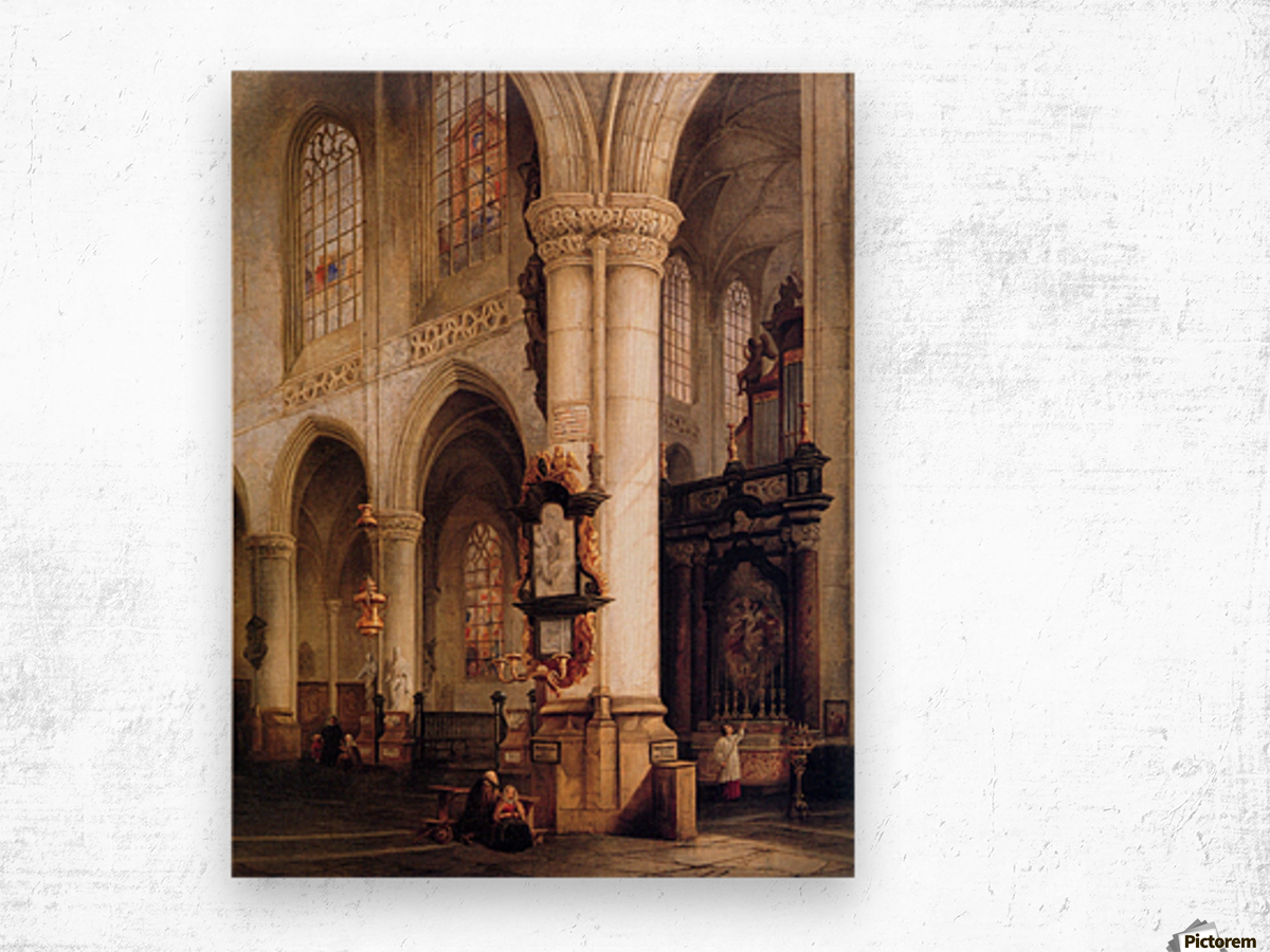 St Jacobskerk Antwerpen Sun Wood print