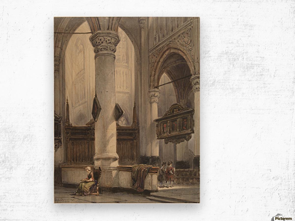 Interieur van de Nieuwe Kerk te Delft Wood print