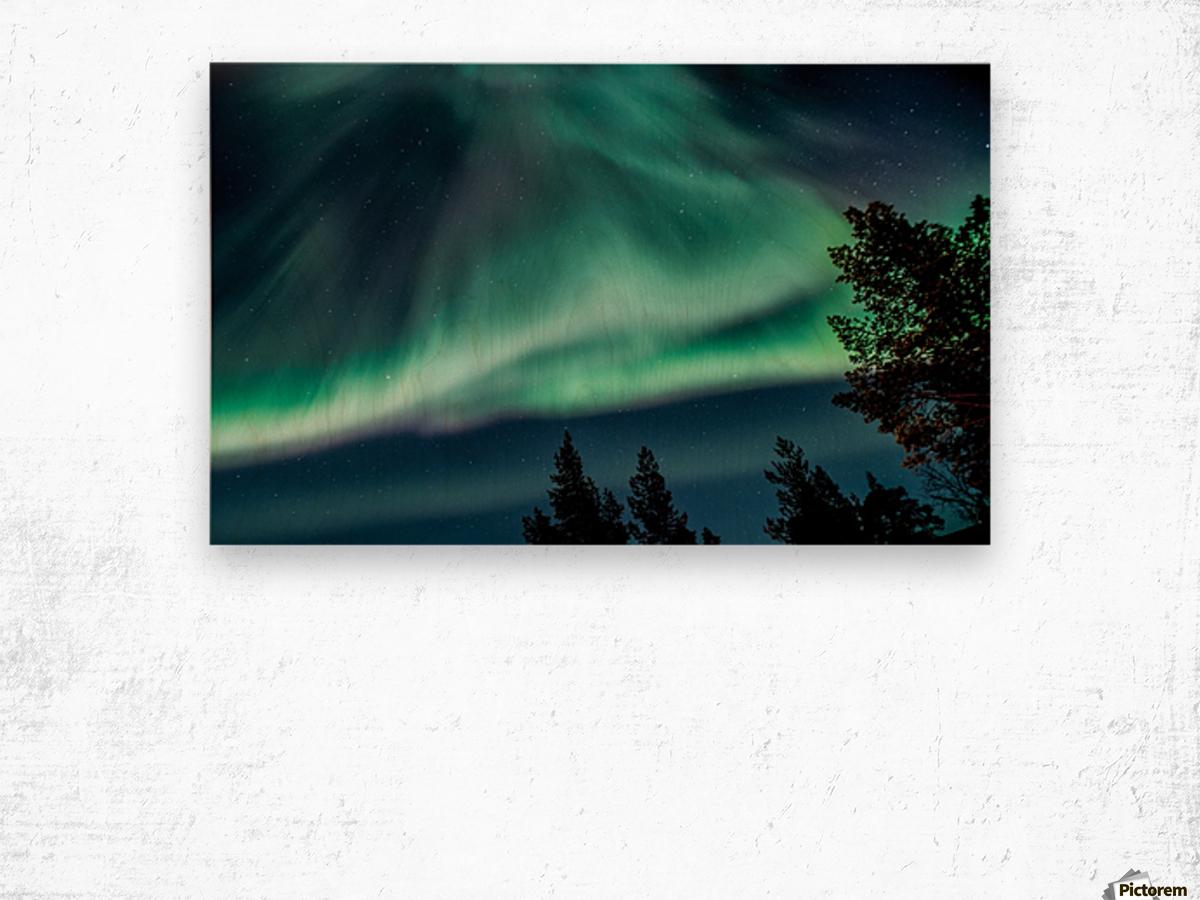Green sky Wood print