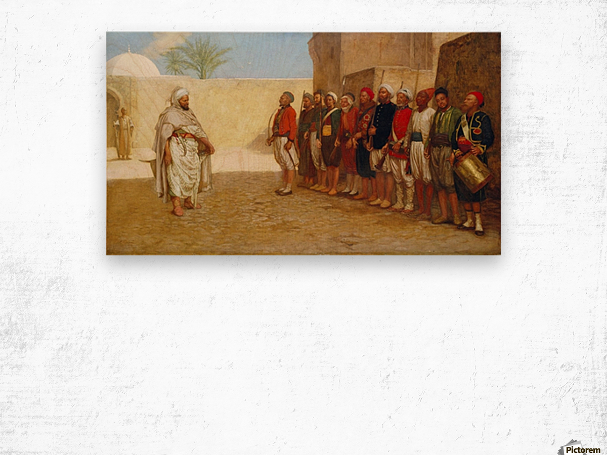 Army Reorganisation in Morocco 1872 Wood print
