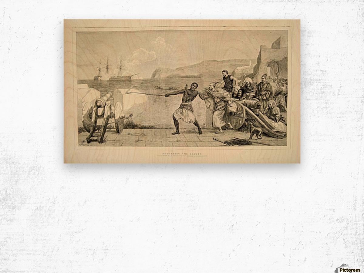 1874 Wood Engraving Wood print