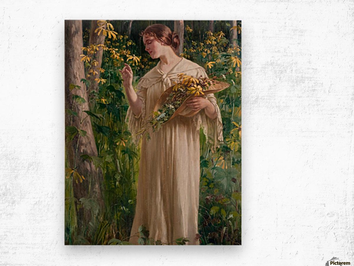 Lady in forest Impression sur bois