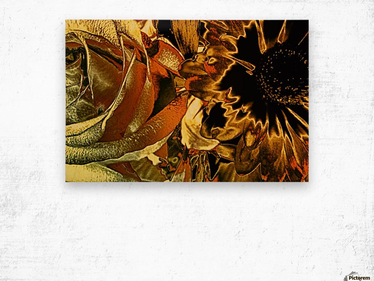 Just Golden Wood print