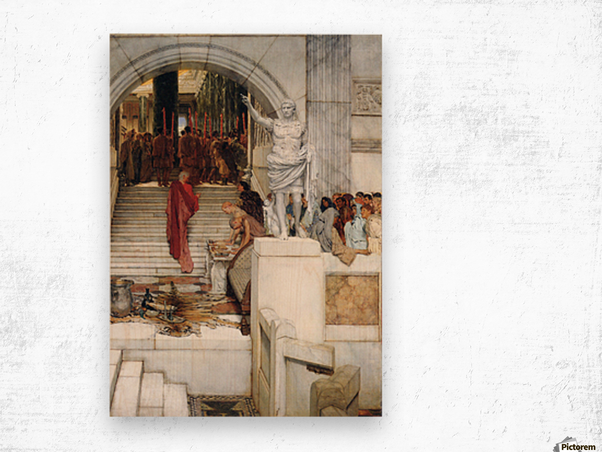 After the Audience by Alma-Tadema Wood print