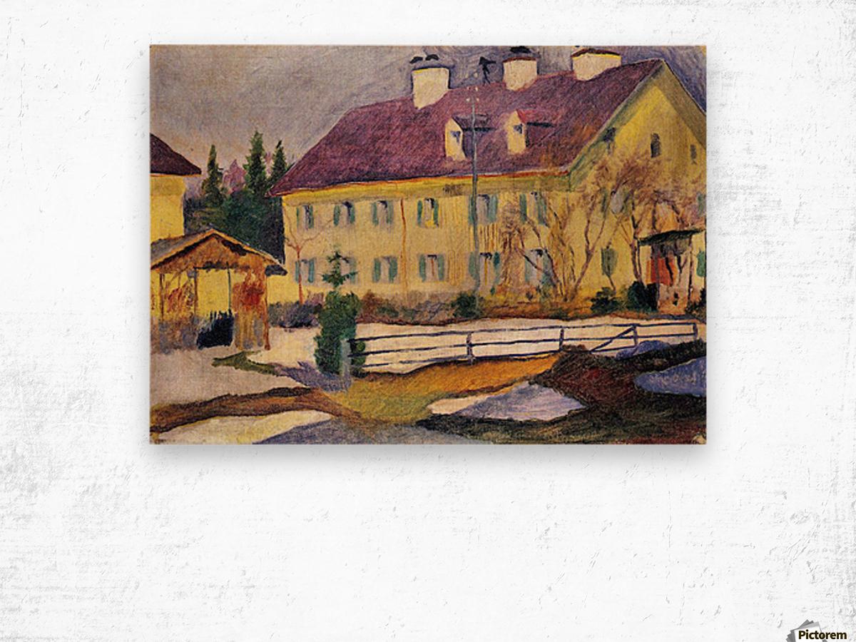Hospital in Tegern Sea by August Macke Wood print
