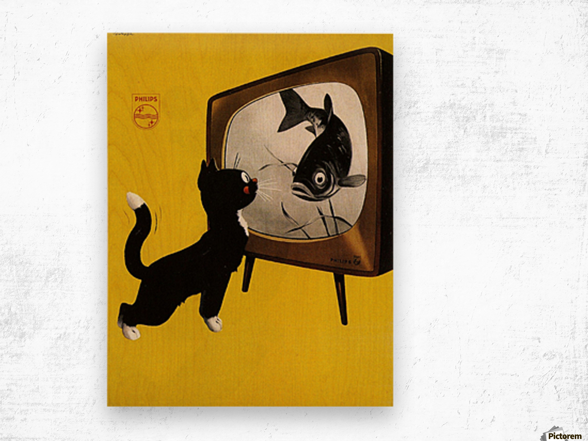 Dutch poster for Philips Tv, 1951 - VINTAGE POSTER Canvas