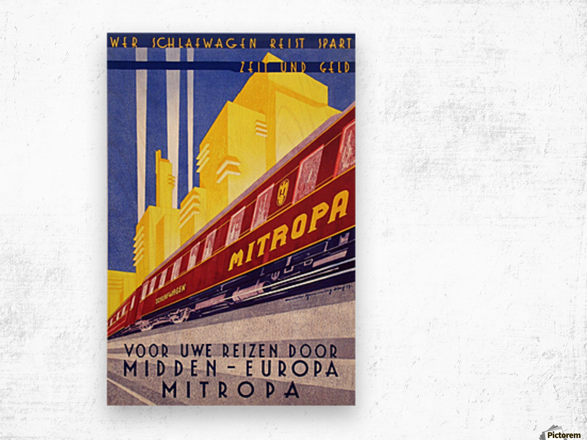 Poster Mitropa Midden - Europa, 1929 Wood print