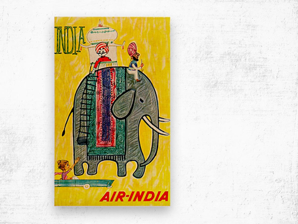 Air-India travel poster Wood print
