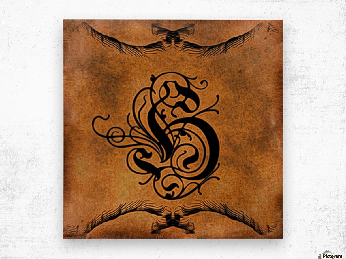Beautiful Monogram Letter H Wood print