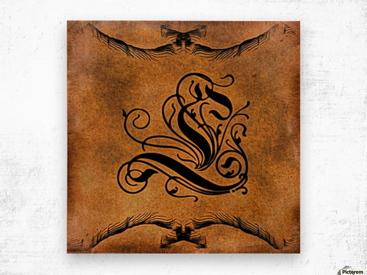 Beautiful Monogram Letter L Wood print