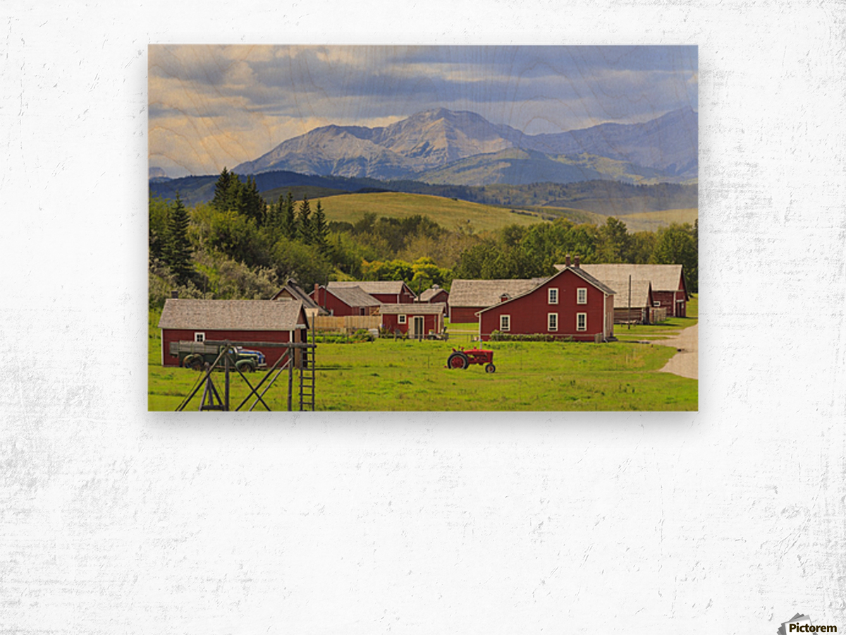 Bar U Ranch National Historic Site; Longview, Alberta, Canada Wood print