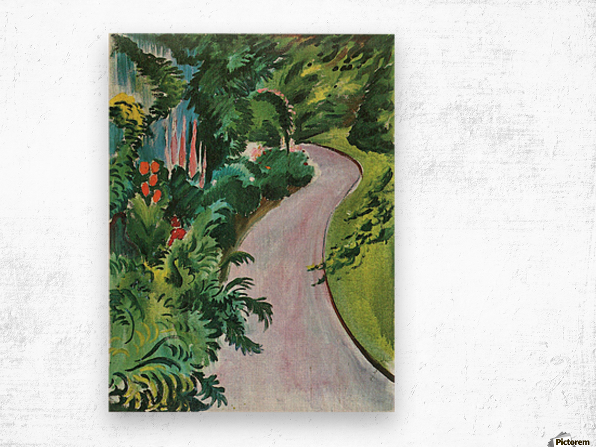 Path in the garden by August Macke Wood print