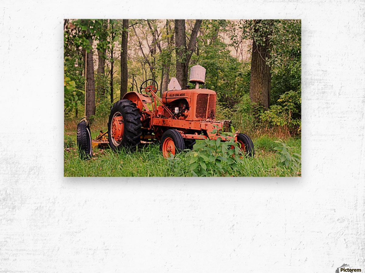 Vintage Tractor Wood print