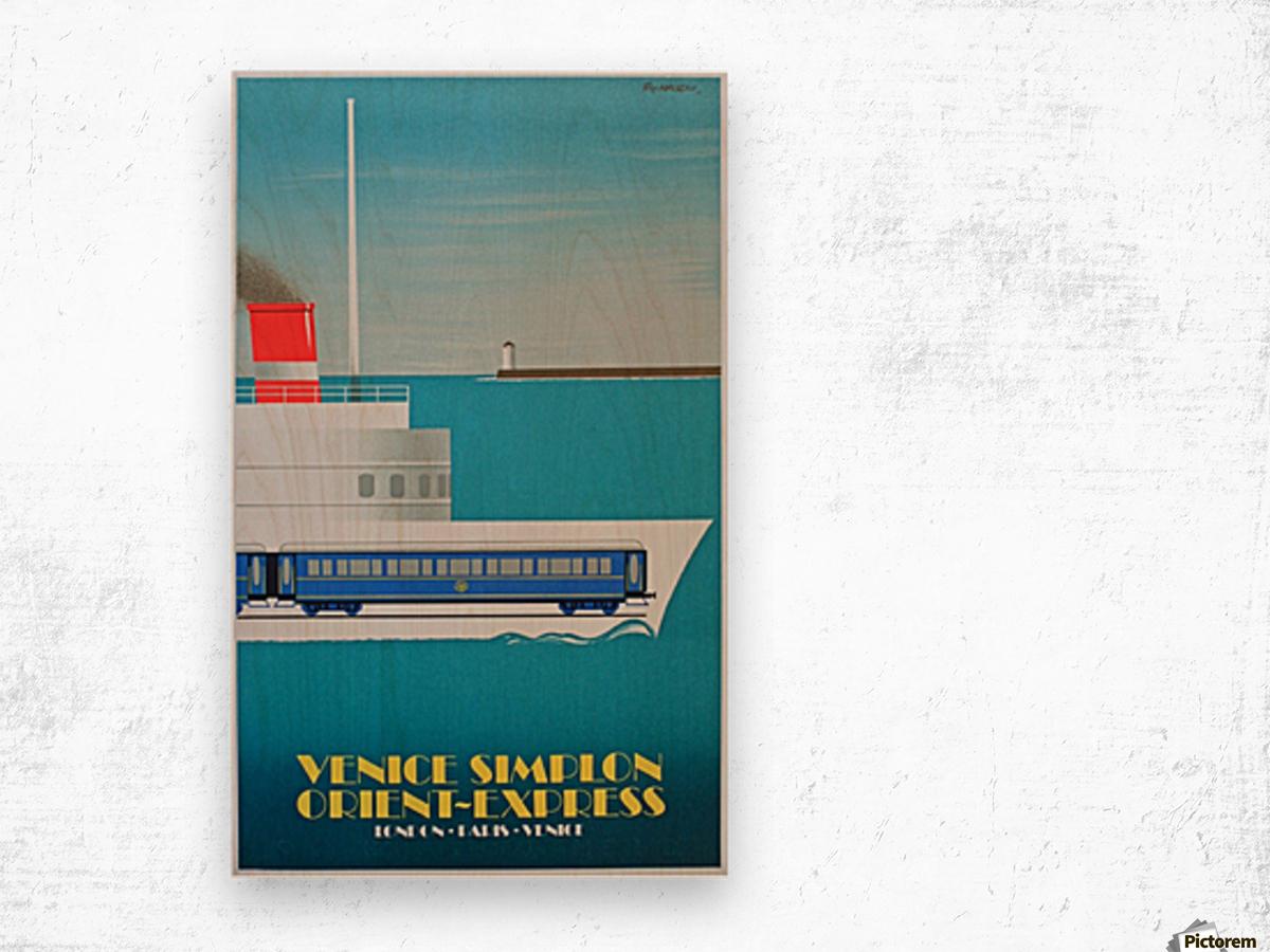 Simplon Orient Express Poster Wood print