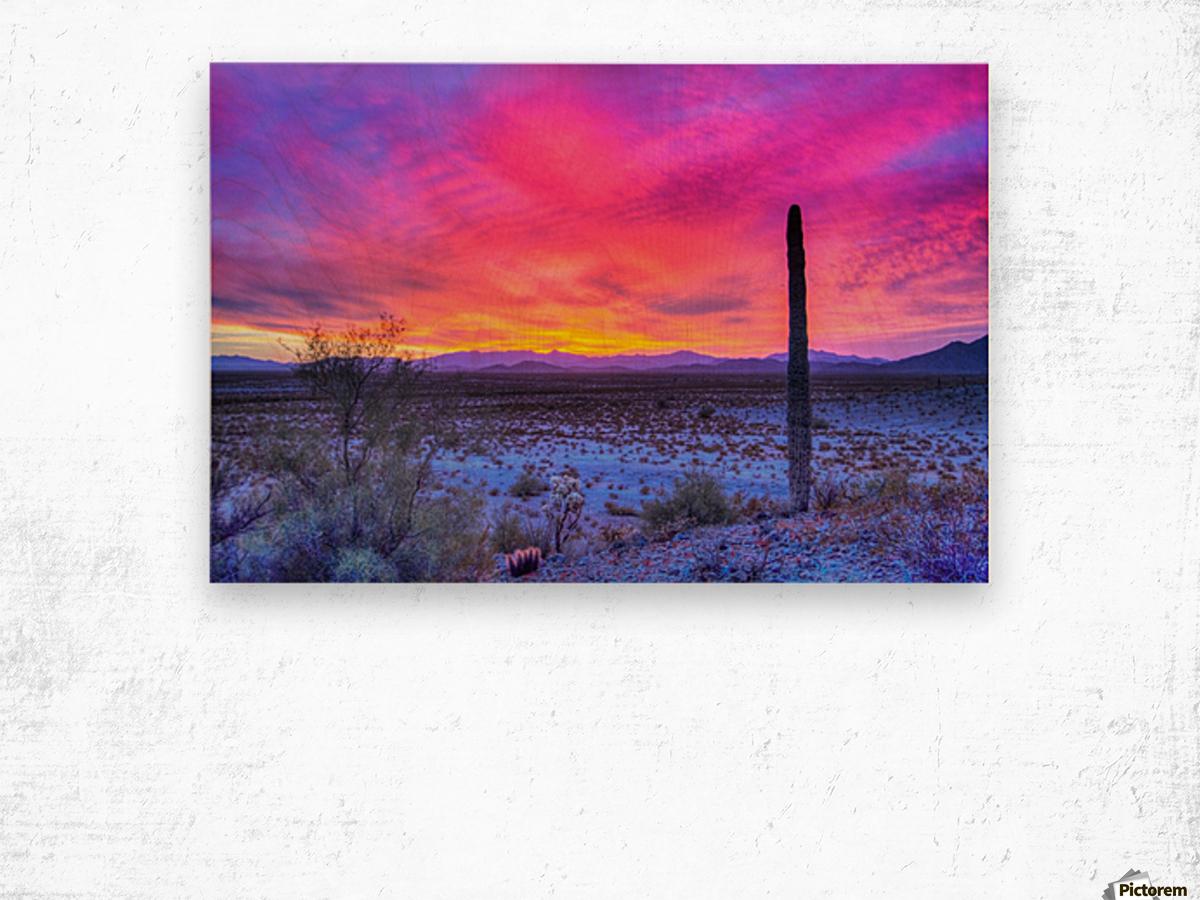Sonoran_sunset Wood print
