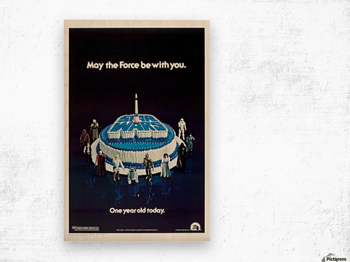 1978 Star Wars Birthday Cake Poster Wood print