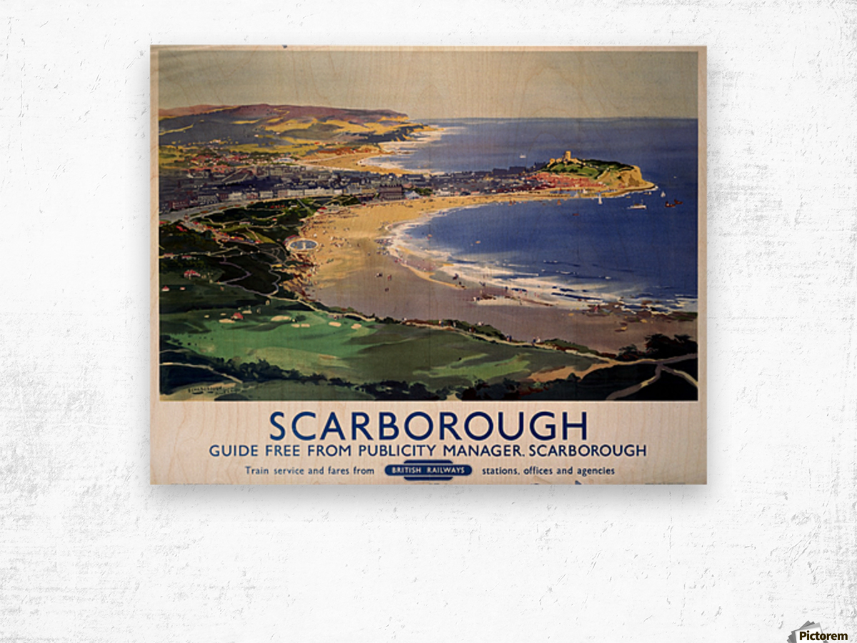 Scarborough British Railways poster Wood print